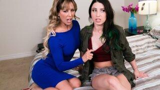 GirlsWay – Babysitting Lesbians: House Rules – Cherie Deville, Serena Blair