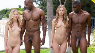 Blacked – Interracial Foursome for Two Beautiful Blonde Girls – Jillian Janson, Karla Kush, Flash Brown, Jason Brown