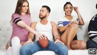 SneakySex – Super Sunday Sluts – Maya Kendrick, Vanessa Sky, Seth Gamble