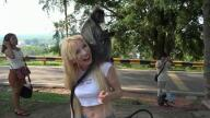 ATKGirlfriends – Kenzie meets some monkeys, and they love her! – Kenzie Reeves