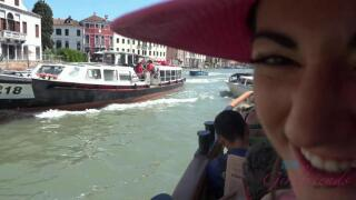 ATKGirlfriends – A real gondola ride brings a smile to Lily's face. – Lily Adams
