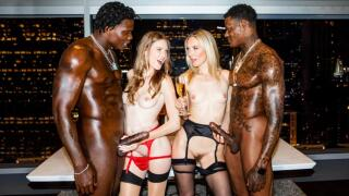 BlackedRaw – Girls Night – Ashley Lane, Mona Wales, Jason Luv, Louie Smalls