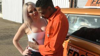 FakeDrivingSchool – BBC stretches cheating wet pussy – Louise Lee, Mr. Longwood
