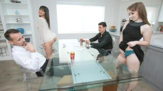 DaughterSwap – Domino Daughter Dick Down – Cleo Clementine, Brooklyn Gray, Ryan Driller, Filthy Rich