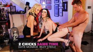 2ChicksSameTime – Katie Monroe, Riley Steele, Van Wylde