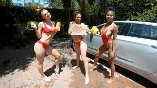BFFs – Carwash Cuties – Luna Light, Jaycee Starr, Nia Nacci, Filthy Rich