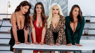 BigTitsAtWork – Office 4-Play: Latina Edition – Bridgette B, Katana Kombat, Luna Star, Victoria June, Keiran Lee