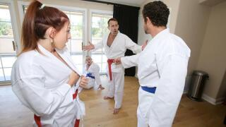 DaughterSwap – Swapping Martial Arts Muff – Luna Light, Ashley Red, Filthy Rich, Brad Newman