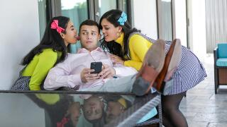 StepSiblings – My Stepsisters Fucked Me To Get Into The Club – Maya Farrell, Alina Belle, Johnny The Kid