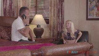 FamilyHookups – E136 Cute blonde teen Riley Star fucks her hot British stepdad – Riley Star, Marcus London