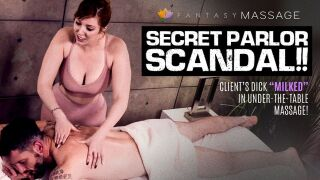 IsThisReal – Secret Parlor Scandal!! Client's Dick 'Milked' In Under-The-Table Massage! – Valentina Nappi, Lauren Phillips, Mike Mancini