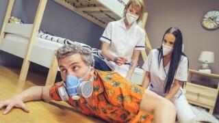 FakeHostel – Stuck Between Two Nurses – Jennifer Mendez, Ariela Donovan, Steve Q