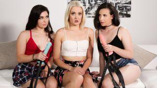 GirlsWay – Sister Strap Sandwich – Casey Calvert, Zoe Sparx, Keira Croft