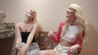 FamilyHookups – Sexy Blonde Babes Lyra Law And Kenna James Tag Team A Hot Guy – Kenna James, Lyra Law, Logan Pierce