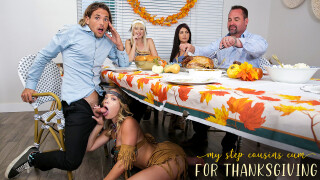 MyFamilyPies – My Step Cousins Cum For Thanksgiving – S16:E4 – Jessie Saint, Katie Kush, Tyler Nixon