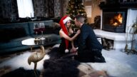 DaneJones – Couple Share Orgasmic Xmas Presents – Rebecca Volpetti
