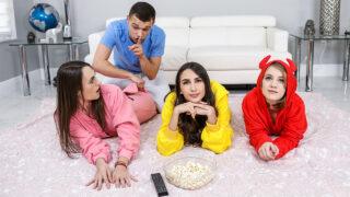 BFFs – Stepbrother Crashes Slumber Party – Natalia Nix, Dakota Burns, Dani Damzel, Johnny The Kid