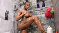 BrownBunnies – Shower With Sexy Ebony Stepdaugher – Sarai Minx, Richard Mann