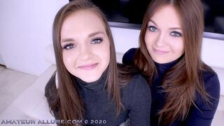 AmateurAllure – Amateur Allure Welcomes TWIN SISTERS Joey and Sami White to Give POV Blowjob and Swallow Cum – Joey White, Sami White