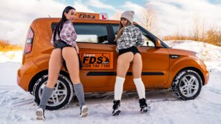 FakeDrivingSchool – Stuck Between Snow and Big Tits – Dominno, Lady Gang, Don Diego