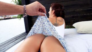 LetsTryAnal – Brunette's Big Booty Fucked Outdoors – Naiomi Mae, Peter Green