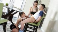 FamilyStrokes – Sorority Stepsisters – Bailey Base, Reyna Delacruz, Johnny The Kid