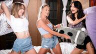 WebYoung – Strip Pillow Fight – Emma Hix, Eliza Ibarra, Gabbie Carter